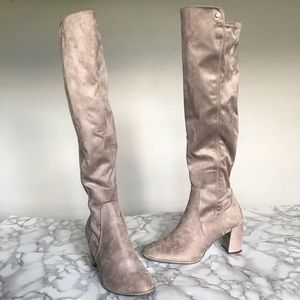 Liz Claiborne Leyla Over the Knee Taupe Boots